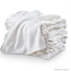 500 Industrial Commercial Shop Rags Cleaning Towels White 155 Bale Heavy Duty