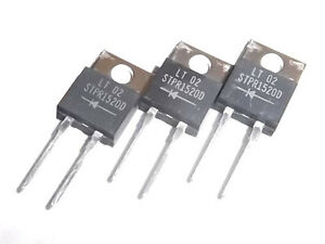 Stmicroelectronics Stpr1520d 15a 200v Ultra Fast Rectifier Diodes Lot 50