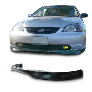 Type R Style Front Bumper Lip For Honda Civic 2001 2003