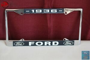 1936 Ford Car Pick Up Truck Front Rear License Plate Holder Chrome Frame New