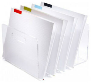 Acrylic Boxes Desk Accessories Russell And Hazel Plastic File Holder Organizer