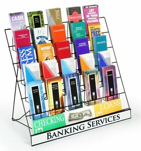 Brochure Holder Wire Magazine Rack Pamphlet 6 Tier Shelf Book Catalog Organizer