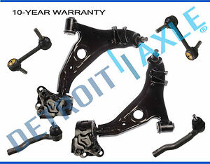 Front Lower Control Arm Tierod Sway Bar For 2007 2014 Ford Edge Lincoln Mkx