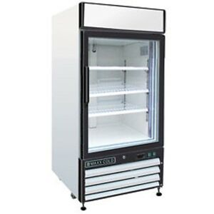 New Maxx Cold Single Glass Door Reach in Cooler 16 Cu Ft Mxm1 16r Free Shipping