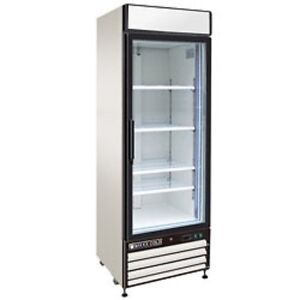 New Maxx Cold Single Glass Door Reach in Cooler 27 Mxm1 23r Free Shipping