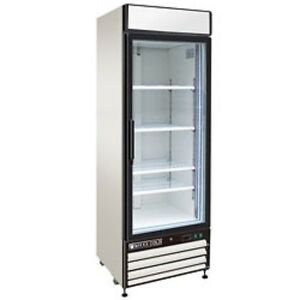 New Maxx Cold Single Glass Door Reach in Freezer 27 Mxm1 23f Free Shipping