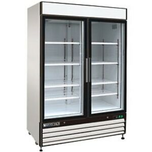 New Maxx Cold Sliding Glass Door Reach in Cooler 54 Mxm1 48rs Free Shipping