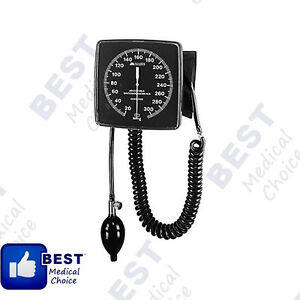 Wall mounted Aneroid Sphygmomanometer Large Raised Numbers Luminescent Dial