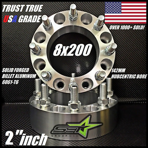 8x200 Wheel Spacers Adapters 3 Inch Ford F 250 F 350 Super Duty Dually 75mm