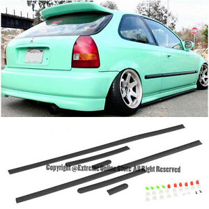 Jdm Style Thin Side Molding Honda Civic 96 00 2dr 3dr Coupe Hatchback Trim Panel