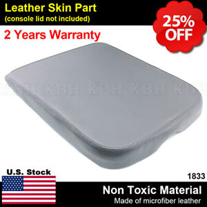 Armrest Center Console Lid Leather Synthetic Cover For Dodge Ram 02 08 Gray