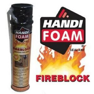 Handi foam Fireblock Polyurethane Straw Foam Sealant 24oz Can 12 Pack P30192
