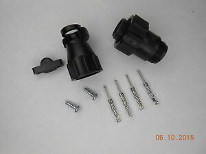 5 Te Connectivity Amp 206429 1 Cpc Plug Kit W Cable Clamp And Tin Pins