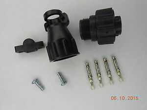 5 Te Connectivity Amp 206060 1 Cpc Plug Kit W Cable Clamp And Gold Sockets