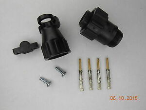 5 Te Connectivity amp 206429 1 Cpc Plug Kit W Cable Clamp And Gold Pins