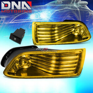 Amber Tinted Lens Oe Bumper Fog Lights Lamps Switch Assembly For 05 10 Scion Tc