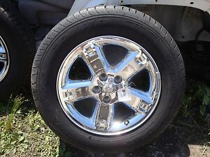 2007 11 Dodge Nitro Jeep Liberty 17 7 Chrome Clad Factory Oem Wheels Tires Nice