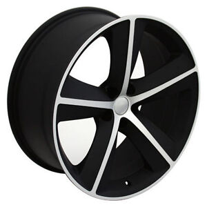 20 Dodge Challenger Rims Srt8 Charger 300 Mopar Style Replica Wheels Mach Black