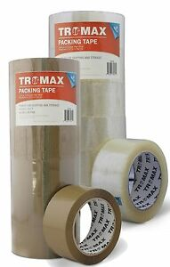 36 Rolls 2 X 110yds Clear tan Bopp Quality 2 0 Mil Packing Carton Sealing Tape