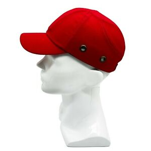 Red Baseball Bump Caps Lightweight Safety Hard Hat Head Protection Caps