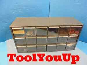 18 Drawer Cabinet From Machine Shop With Misc Set Screw Bolts Springs Tooling