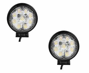 2 X 4 5 27w Spot Round Led Work Light Offroad Fog Driving Suv Atv Truck 4wd