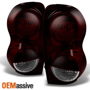 Fits 2004 2009 Dodge Durango Suv Dark Red Rear Tail Lights Replacement Pair