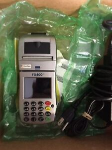 Wireless Credit Card Machine Fd400 First Data Fd 400 Used Excellent Condition