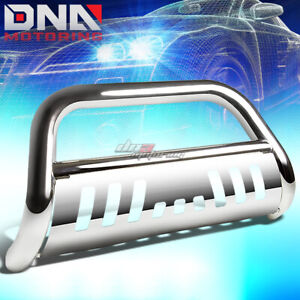 For 03 08 Honda Pilot 06 14 Ridgeline Stainless Chrome Bull Bar Push Grill Guard
