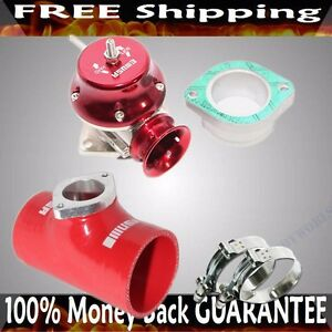 Red Adj Type Rs Blow Off Valve 2 5 Silicone Type S Adapter Ss Clamps Combo