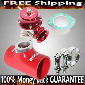 Red Adj Type Rs Blow Off Valve 3 Silicone Type S Adapter Ss Clamps Combo