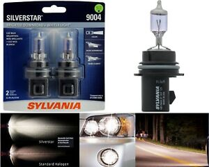 Sylvania Silverstar 9004 Hb1 65 45w Two Bulbs Head Light High Low Beam Lamp