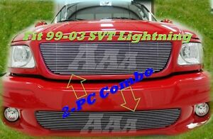 2003 99 03 01 02 2002 2000 Ford F150 Lightning Billet Grille Grill 2pc Combo