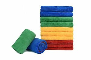 24x Microfiber Deluxe Car Wash Polish House Cleaning Clothe 16 X24 Mix Colour