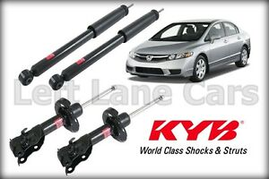 Kyb Set Of 4 Struts Shocks Absorbers Honda Civic 2006 2011 Sedan 4 door Only