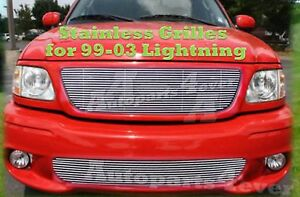 99 03 2003 01 02 Ford F150 Lightning New Stainless Steel Billet Grille Comb 2000