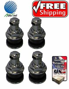 4 Chrome Metal Bolt In Tire Valve Stems Vh 8 Tr416 453 625 Holes 1 Long