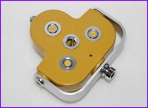 Yellow Triple Prism Holder For Nikon topcon sokkia south pentax Total Station