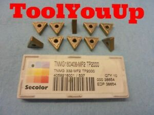 New 10 Pcs Seco Tnmg 160408 Mf2 Tp2000 Inserts Secolor Edp 38654 Machinist Tools