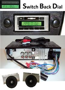 1980 86 Chevy Truck Am Fm Stereo Radio W Switch Back Am Dial 2 Speakers 230df