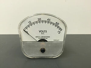 General Electric ge Model 8dw91 Dc Volt Meter 0 75 Volts Lot Of 5