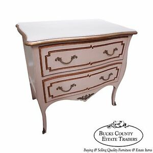 Bodart French Louis Xv Style Painted 2 Drawer Commode Chest