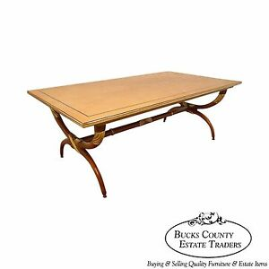 High Quality French Regency Directoire X Base Coffee Table W Gilt Accents