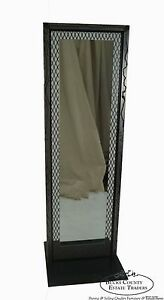 Unusual Custom Crafted Brutalist Steel Double Sided Dressing Mirror