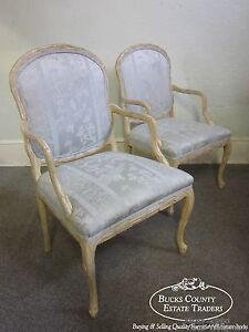 Hollywood Regency Pair Of French Tree Formed Arm Chairs B