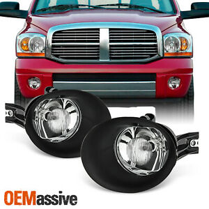 Fit 2002 2008 Dodge Ram 1500 2003 2009 2500 3500 Glass Bumper Fog Lights W bulb