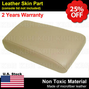 Leather Armrest Center Console Lid Cover Fits For Pathfinder 2001 2004 Beige Tan