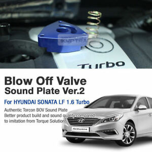 Blow Off Valve Sound Plate Bsp 2 Blue For Hyundai 2015 2017 Sonata Lf 1 6 Turbo