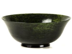 C1700 Mughal Large Dining Bowl Made Of Spinach Green Jade