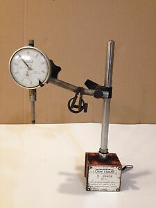 Craftsman Magnetic Base 9 38908 With Teclock A1 921 001 1 0 Dial Indicator